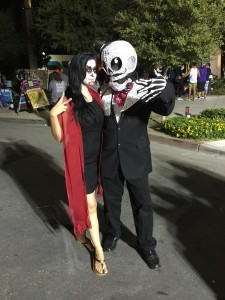 The originality of these Day of the Dead costumes is awesome!