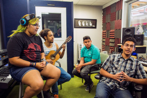 INDIO Teen Center, Hip-Hop workshop in BIG J's studio.